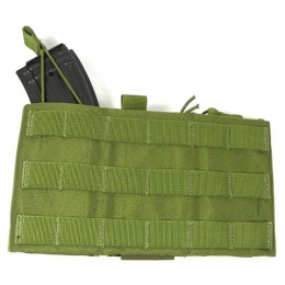 AMA Tactical Airsoft AK Triple Wedge Mag Pouch - OD