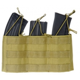 AMA Tactical Airsoft AK Triple Wedge Mag Pouch - KHAKI