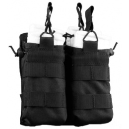 AMA Tactical Airsoft M4 Open top Double Magazine Pouch - BLACK