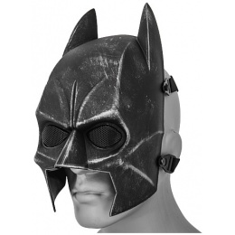 AMA Tactical Dark Hero Wire Mesh Protective Face Mask -BLACK