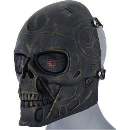 AMA Face Mask Shock Strong Terminator Mask - ANCIENT BRONZE