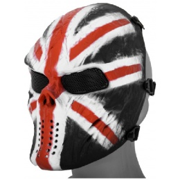 AMA Full Face Mesh Villain Skull Mask - UK FLAG