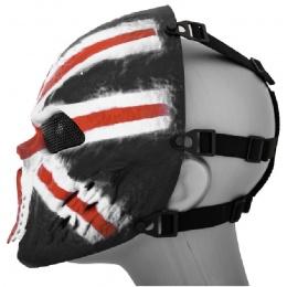 AMA Full Face Mesh Villain Skull Mask - UK FLAG