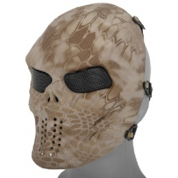 AMA Airsoft Full Face Mesh Villain Skull Mask - NOMAD