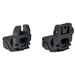 AMA MBUS Gen 1 Back-Up Sight Set - BLACK