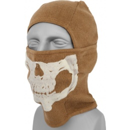 AMA Winter Glow-in-Dark Skull Balaclava - COYOTE BROWN