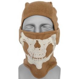 AMA Winter Glow-in-Dark Skull Balaclava - COYOTE BROWN
