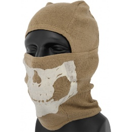 AMA Tactical Winter Glow-in-Dark Skull Balaclava - DARK EARTH