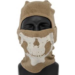 AMA Tactical Winter Glow-in-Dark Skull Balaclava - DARK EARTH