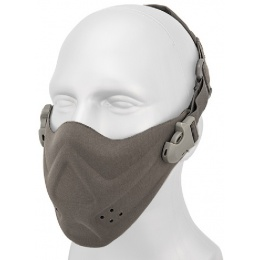 AMA Tactical Hard Foam Neoprene Half Face Mask - GRAY