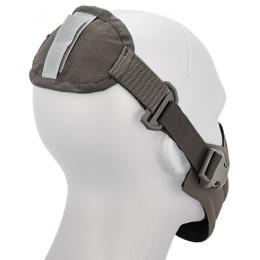 AMA Tactical Hard Foam Neoprene Half Face Mask - GRAY
