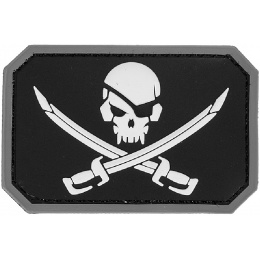 AMA Pirate Cutlass PVC Patch - BLACK/WHITE