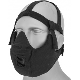 AMA Tactical V5 Conquerors Lower Face Mask - BLACK