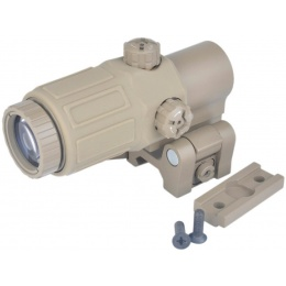 AMA Tactical G33 3X Magnifier Kill Flash - DARK EARTH