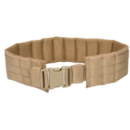 Lancer Tactical Airsoft MOLLE QR Battle Belt - TAN