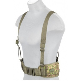 Lancer Tactical Low Profile MOLLE Battle Belt w/ Suspenders - PC GREEN