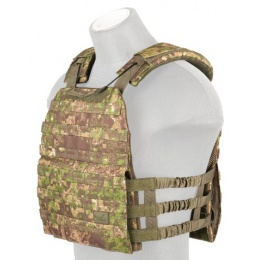 Lancer Tactical 600D Nylon Plate Carrier w/ Shoulder Straps - PC GREEN