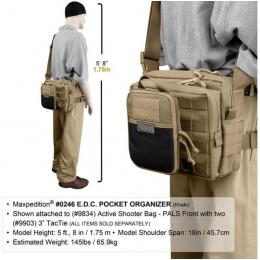 Maxpedition E.D.C. Multi-Tool Pocket Organizer - DARK BROWN