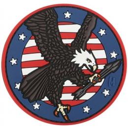 Maxpedition American Eagle PVC Rubber Morale Patch - FULL COLOR
