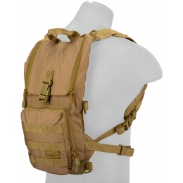 Lancer Tactical Airsoft Lightweight Hydration Pack - COYOTE BROWN