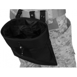 Lancer Tactical Airsoft Nylon Large Foldable Dump Pouch - BLACK
