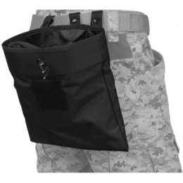 Lancer Tactical Airsoft Nylon Large Foldable Dump Pouch - BLACK