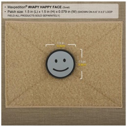 Maxpedition Happy Face PVC Rubber Morale Patch - ARID