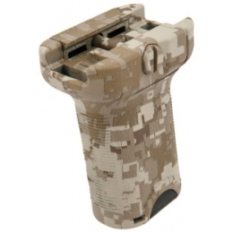 AMA Tactical BR Style Airsoft Short Force Grip - DESERT DIGITAL