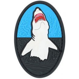 Maxpedition Great White Shark PVC Rubber Patch - BLUE/BLACK