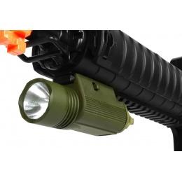 J-Rich Xenon M3 RIS Mounted 80 Lumen Flashlight - OD GREEN