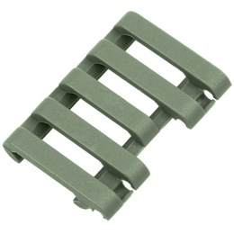Element Rail Cover With Wire Loom 5-Slot - FOLIAGE GREEN
