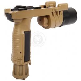 J-Rich LED G900 160 Lumen Tactical Foregrip Flashlight w/ Nav Lights