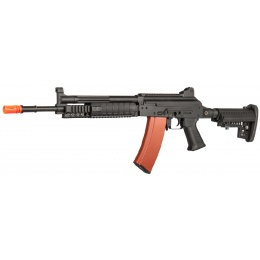 JG AK74 EBB Metal RIS AEG Rifle - BLACK/TAN