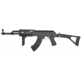 Lancer Tactical AK47 LT-728U AEG Airsoft Rifle w/ Folding Stock [w/ Battery & Charger] - BLACK