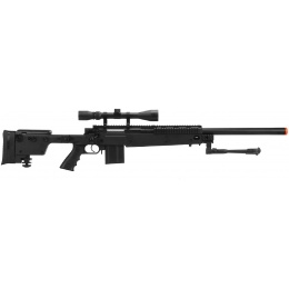 Well MB4406D Sniper Rifle W/ Folding Stock Bipod & Scope - BLACK