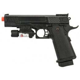 UK Arms Airsoft P2002B Spring Powered Pistol w/ Laser - BLACK