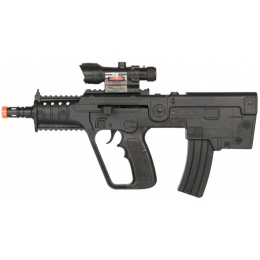 UK Arms Airsoft Spring Rifle w/ Laser & Blue Light - BLACK