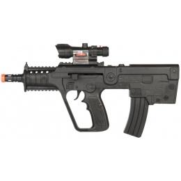 UK Arms Airsoft Spring Rifle w/ Laser & Blue Light - BLACK