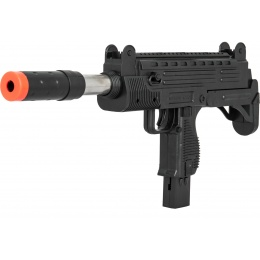 UK Arms Airsoft Spring Uzi Submachine Gun w/ Laser Sight - BLACK