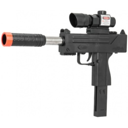 UK Arms Spring Airsoft M10 Pistol w/ Laser & Scope - BLACK