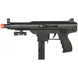 AMA Tactical Airsoft Spring SMG w/ Laser - BLACK