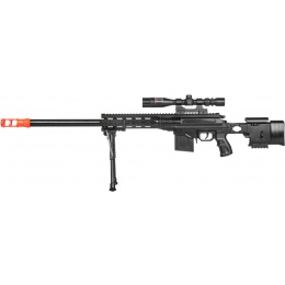 UK Arms Airsoft Spring Powered Rifle w/ Scope - BLACK