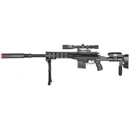 AMA Airsoft P2668 Tactical Sniper w/ Scope & Bipod - BLACK