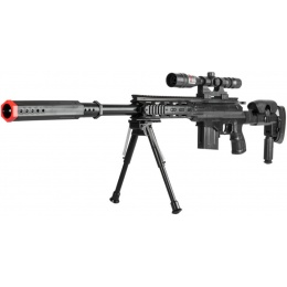 AMA Airsoft P2668 Tactical Sniper w/ Scope & Bipod - BLACK