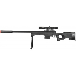 AMA P2703B Tactical Airsoft Spring Rifle w/ Scope - BLACK