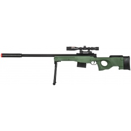 AMA P2703G Tactical Airsoft Spring Rifle w/ Scope - GREEN