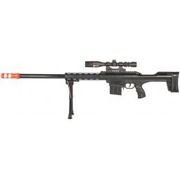 AMA P291A Tactical Spring Sniper W/ Scope & Bipod - BLACK