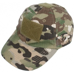 AMA Tactical Airsoft Combat Hook and Loop Cap - CAMO