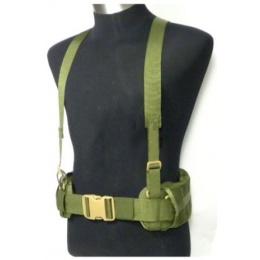 AMA MOLLE EG Style MLCS Gen II Belt w/ Suspenders - OLIVE DRAB