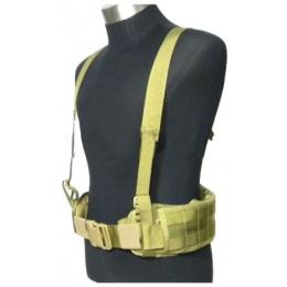 AMA Tactical MOLLE EG Style MLCS GEN II Belt w/ Suspenders - TAN